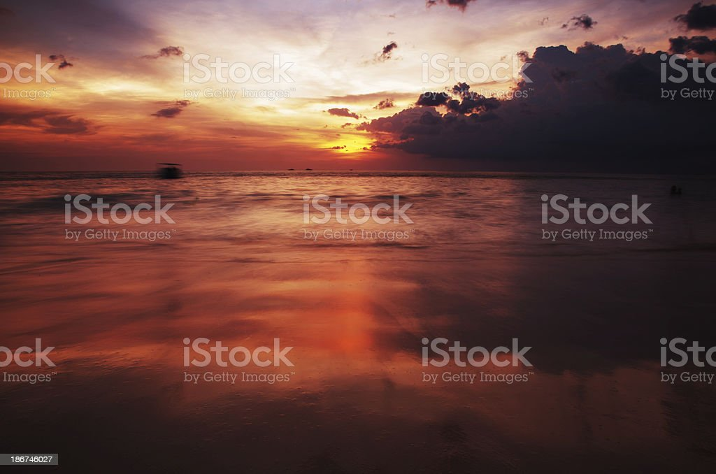 Thai sunset royalty-free stock photo