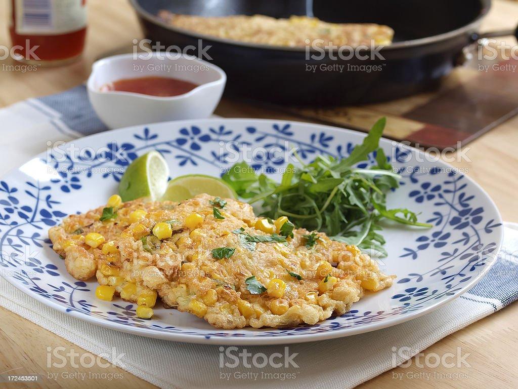 Thai sweet corn cake royalty-free stock photo