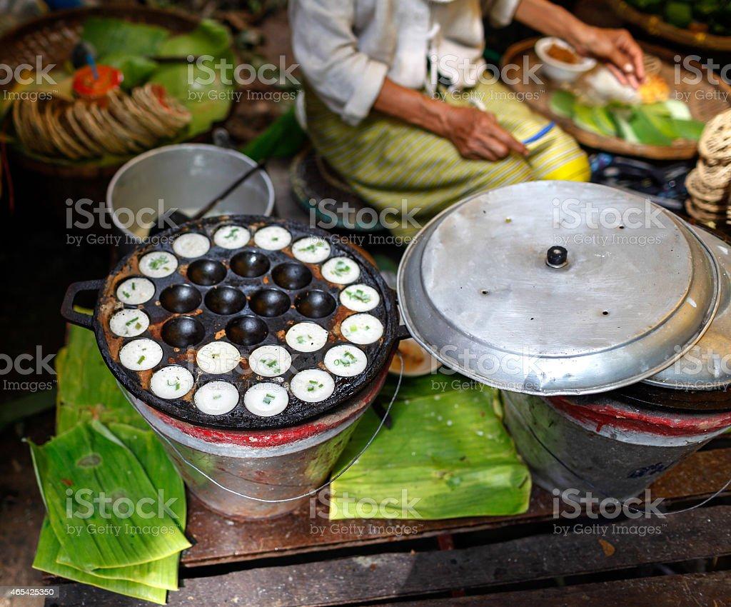 Thai sweetmeat maker royalty-free stock photo