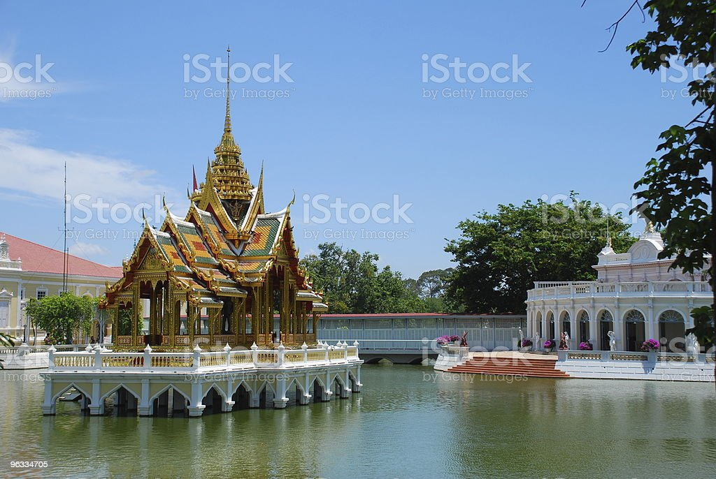 Thai temple at Bang Pa-In, Thailand royalty-free stock photo