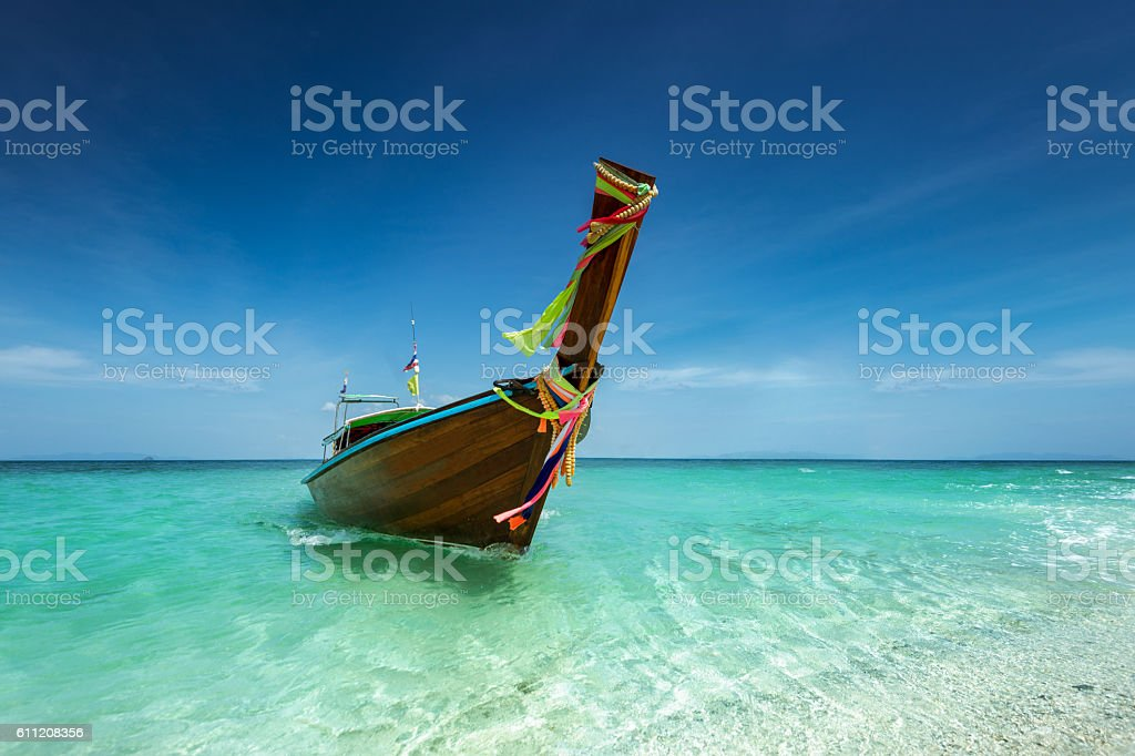 Thai temple built in the ark on the tropic stock photo