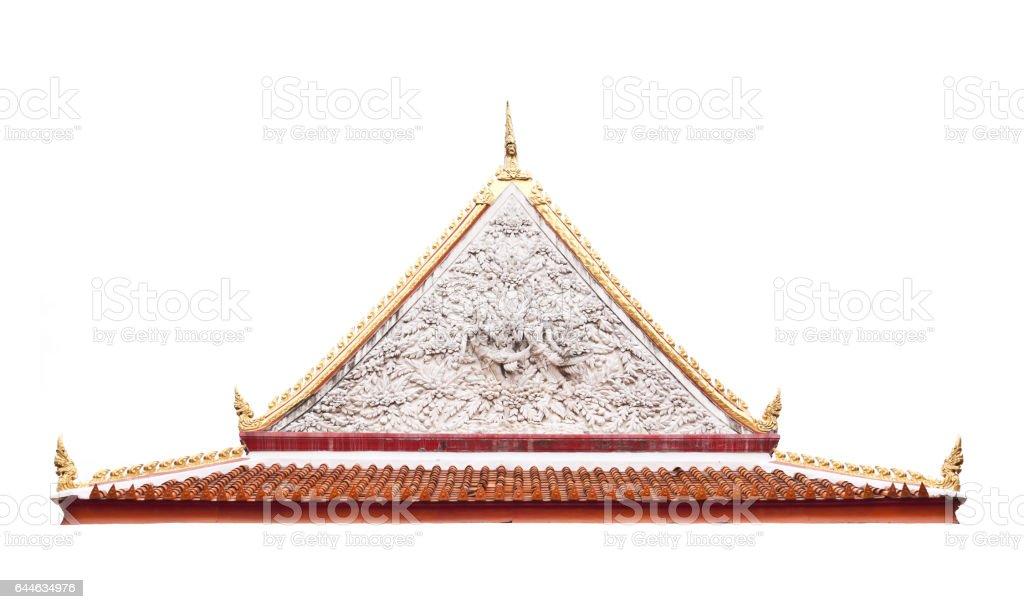 Thai temple gable with apex stock photo