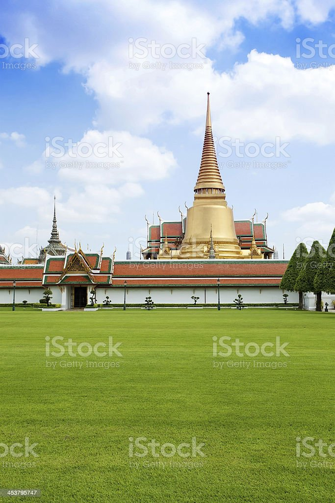 Thai temple in grand palace, Bangkok royalty-free stock photo