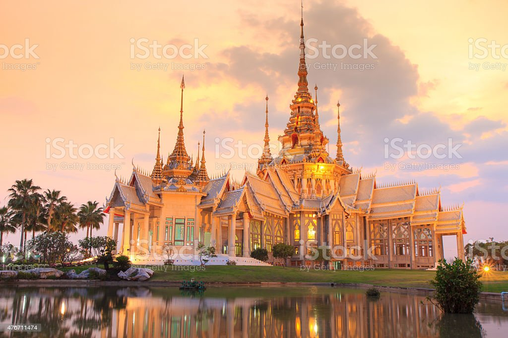 Thai temple in Nakhon Ratchasima or Korat, Thailand stock photo