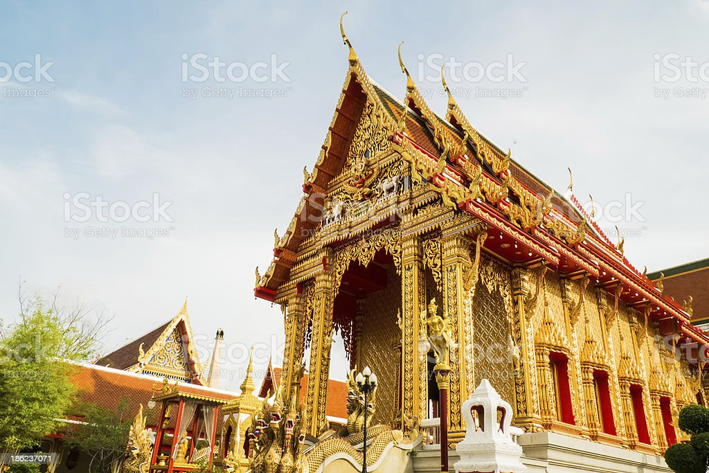 thai temple in samudprakarn thailand royalty-free stock photo