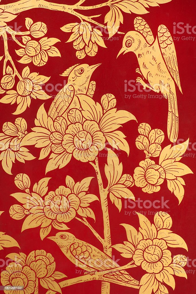 Thai temple mural. royalty-free stock photo