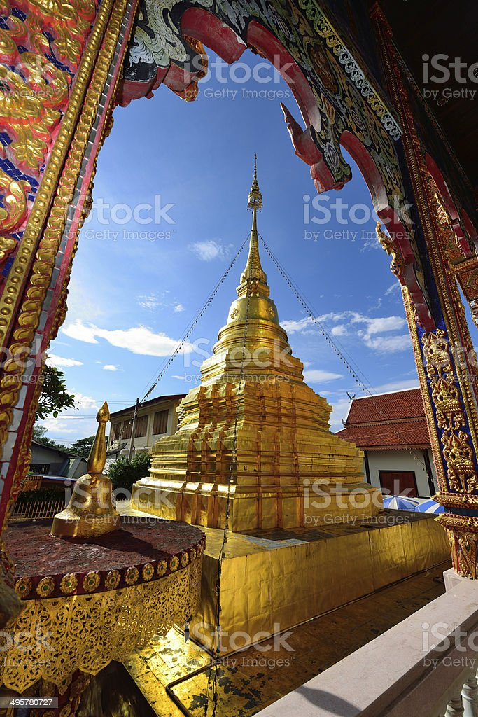 Thai temple of buddhism royalty-free stock photo