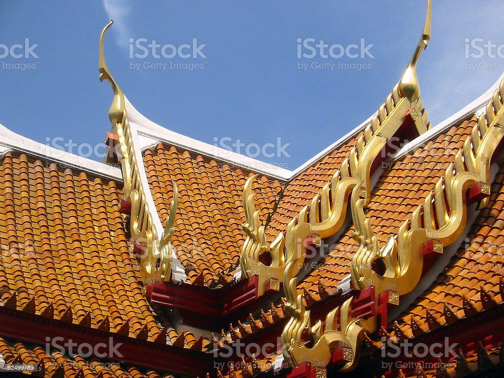 thai temple tiles royalty-free stock photo
