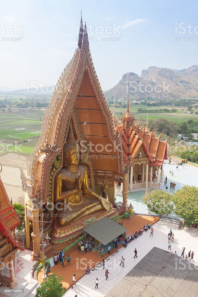 Thai temple Wat thum sua stock photo