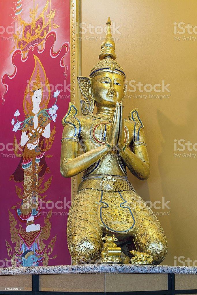 Thai Teppanom Angel Statue royalty-free stock photo