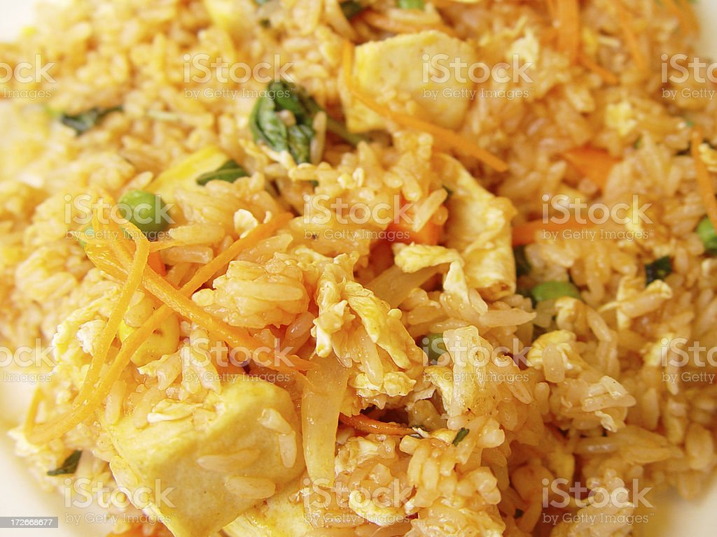 Thai tofu fried rice, close-up royalty-free stock photo