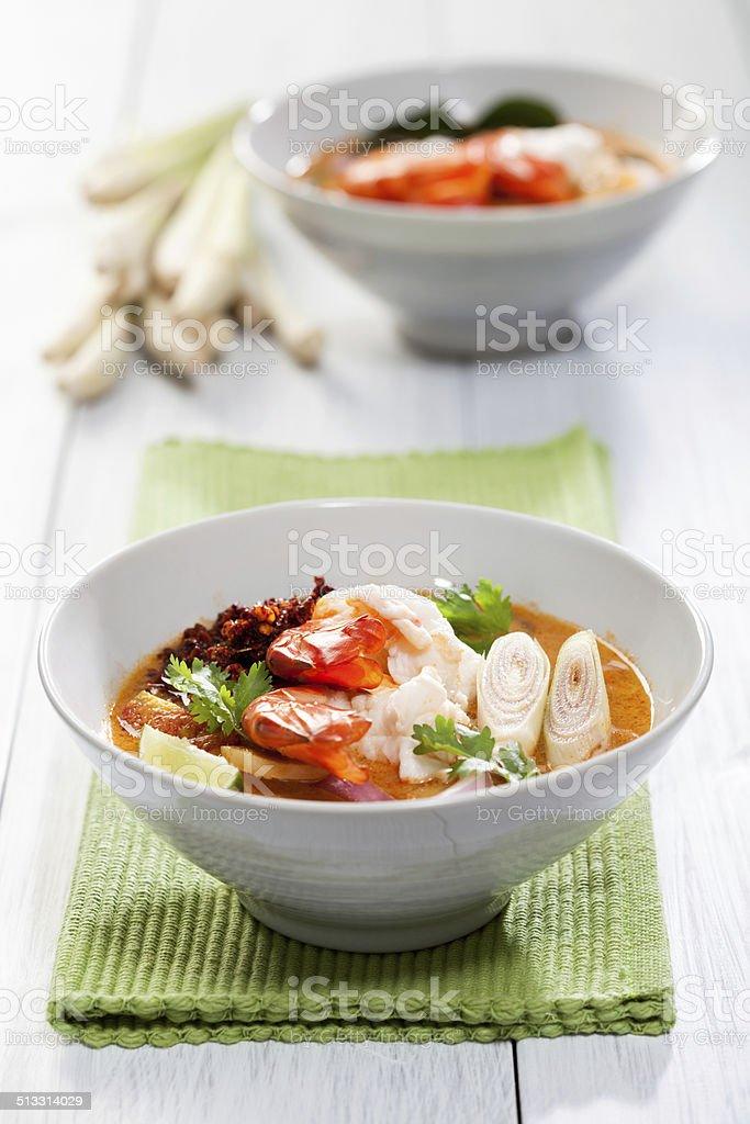 Thai Tom Yum Kung Soup stock photo