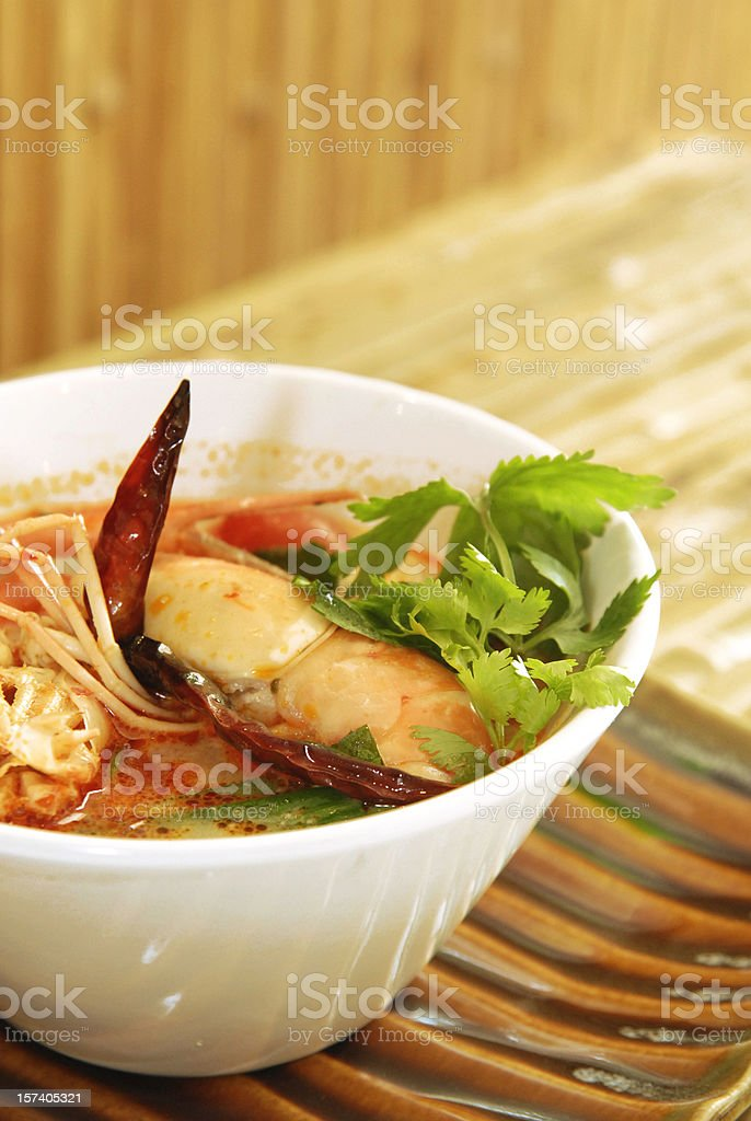 Thai Tom Yum seafood dish stock photo