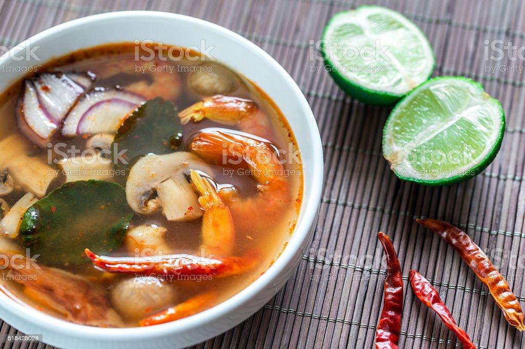 Thai tom yum soup stock photo