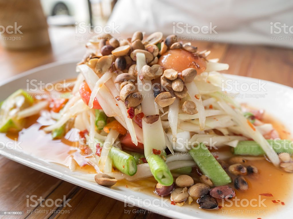 Thai tradition  food on table. stock photo