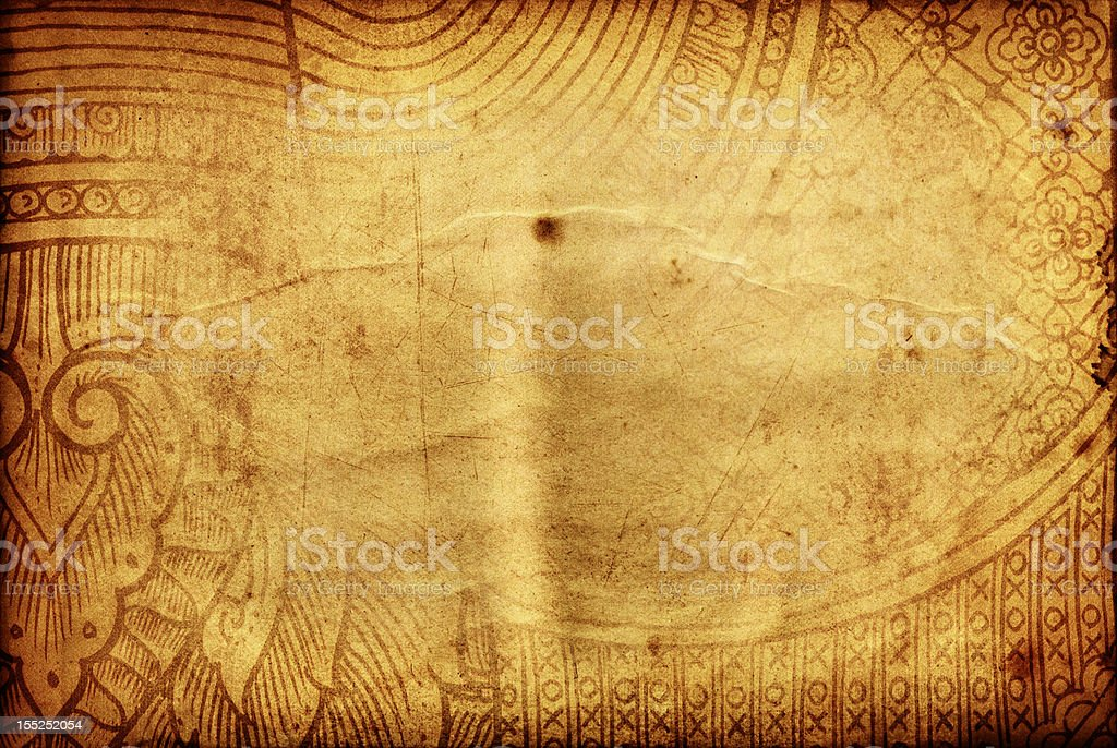 Thai tradition old paper for text and background royalty-free stock photo