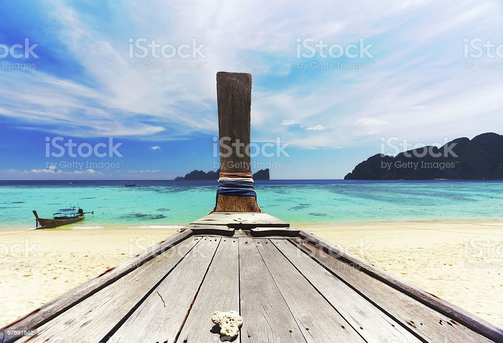 Thai traditional boat royalty-free stock photo