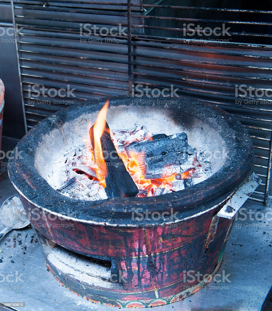 Thai traditional Clay Stove Pottery For Food Burning stock photo