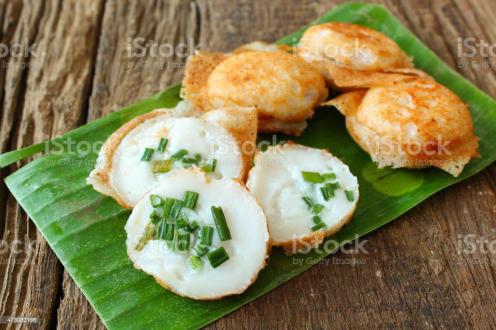 Thai Traditional dessert called 'Kanom Krok' stock photo