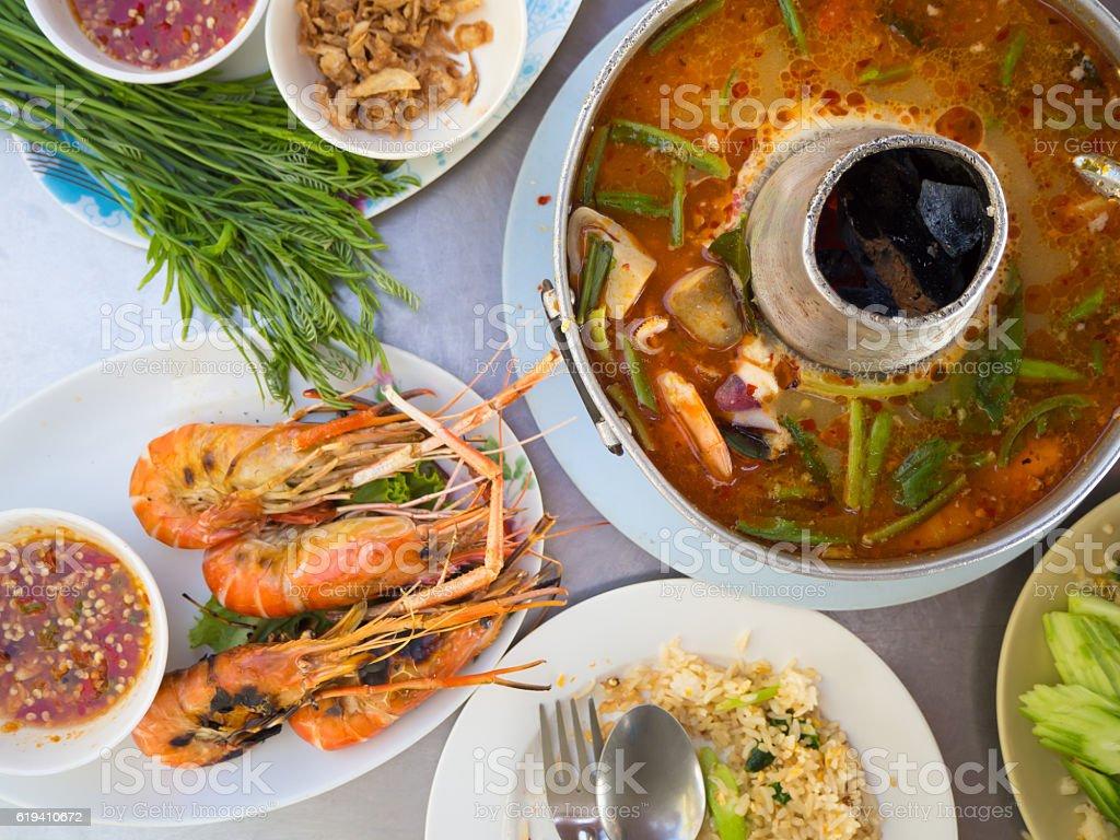 Thai traditional food set. stock photo