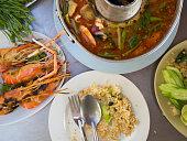 Thai traditional food set.
