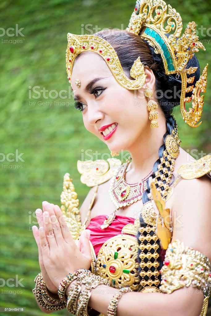 Thai Traditional Greeting stock photo