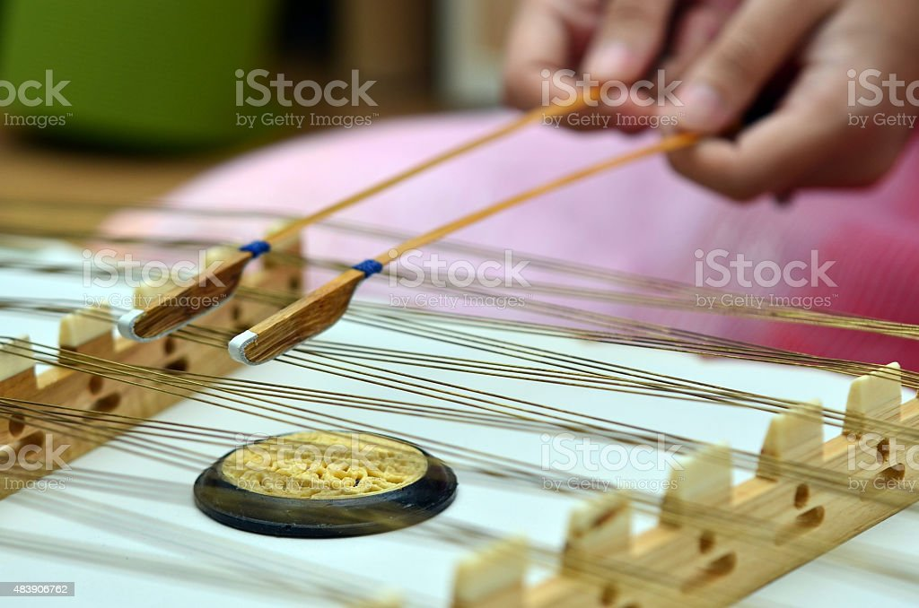 Thai traditional musical instrument stock photo