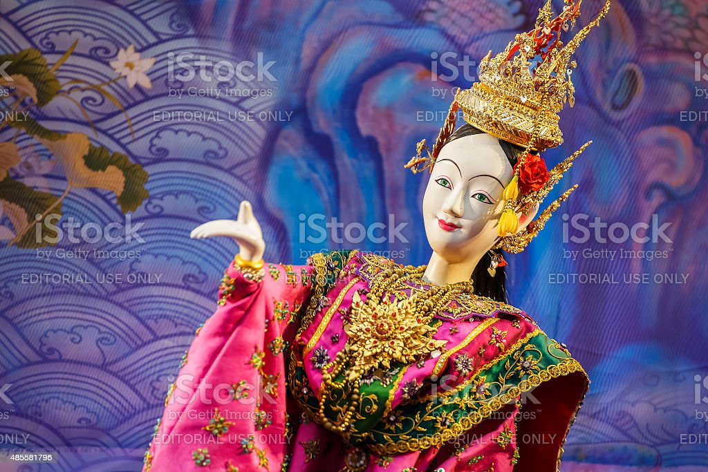Thai traditional puppet stock photo