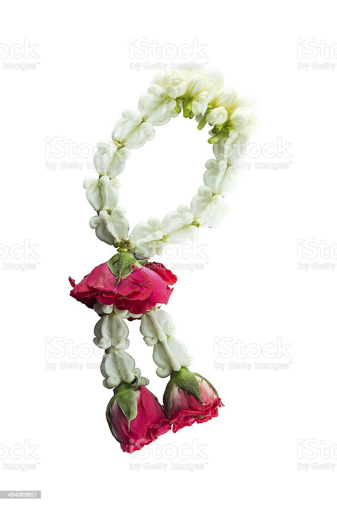 Thai Traditional Style of garland royalty-free stock photo