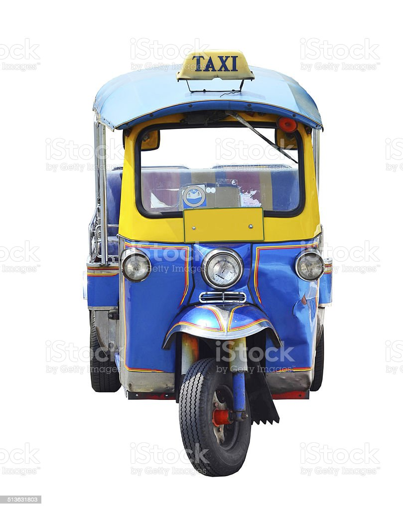 Thai traditional Tuk Tuk in Bangkok of Thailand stock photo