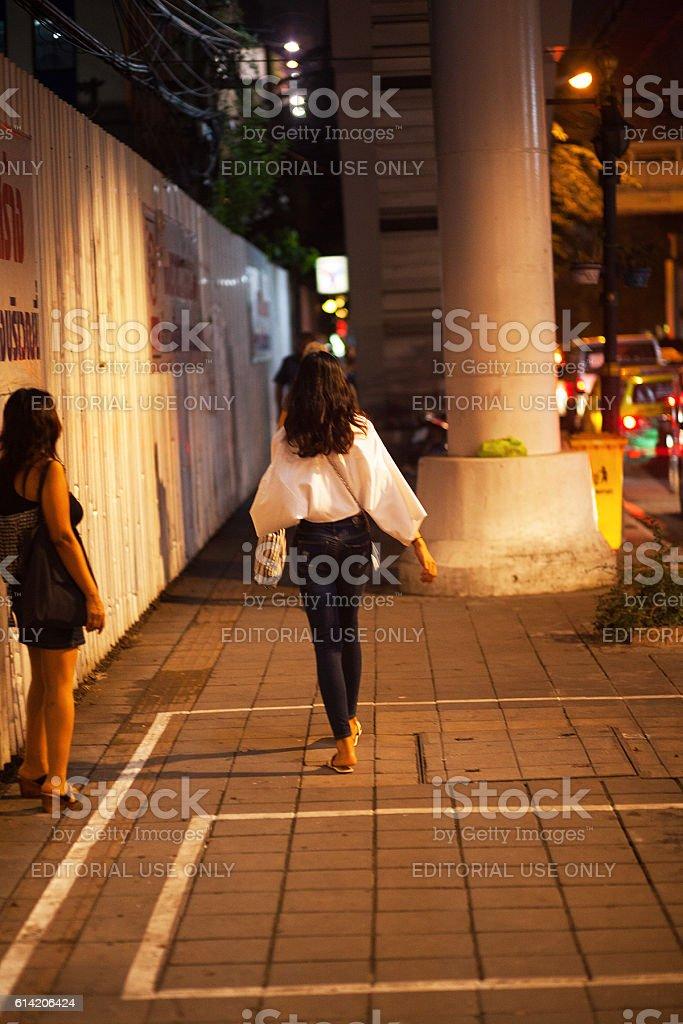 Thai transgender on Sukhumvit Road stock photo