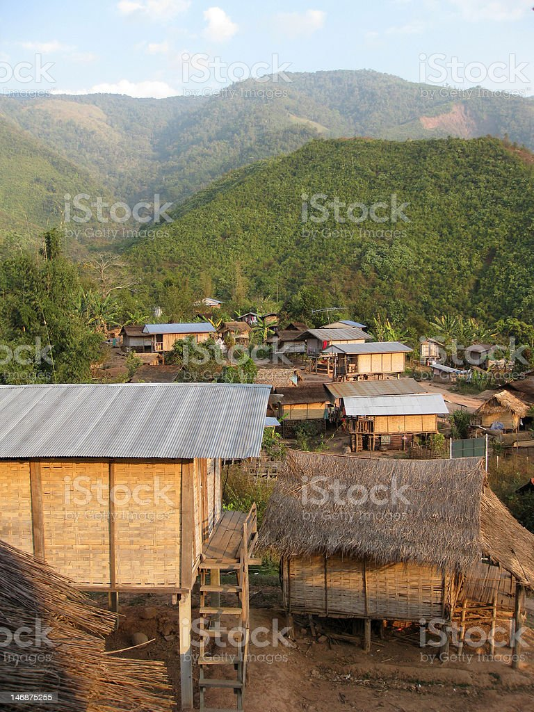 Thai village in the hills royalty-free stock photo