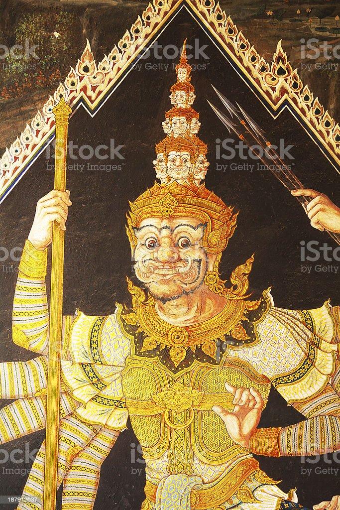 Thai warrior stock photo