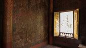 Thai window art architecture.