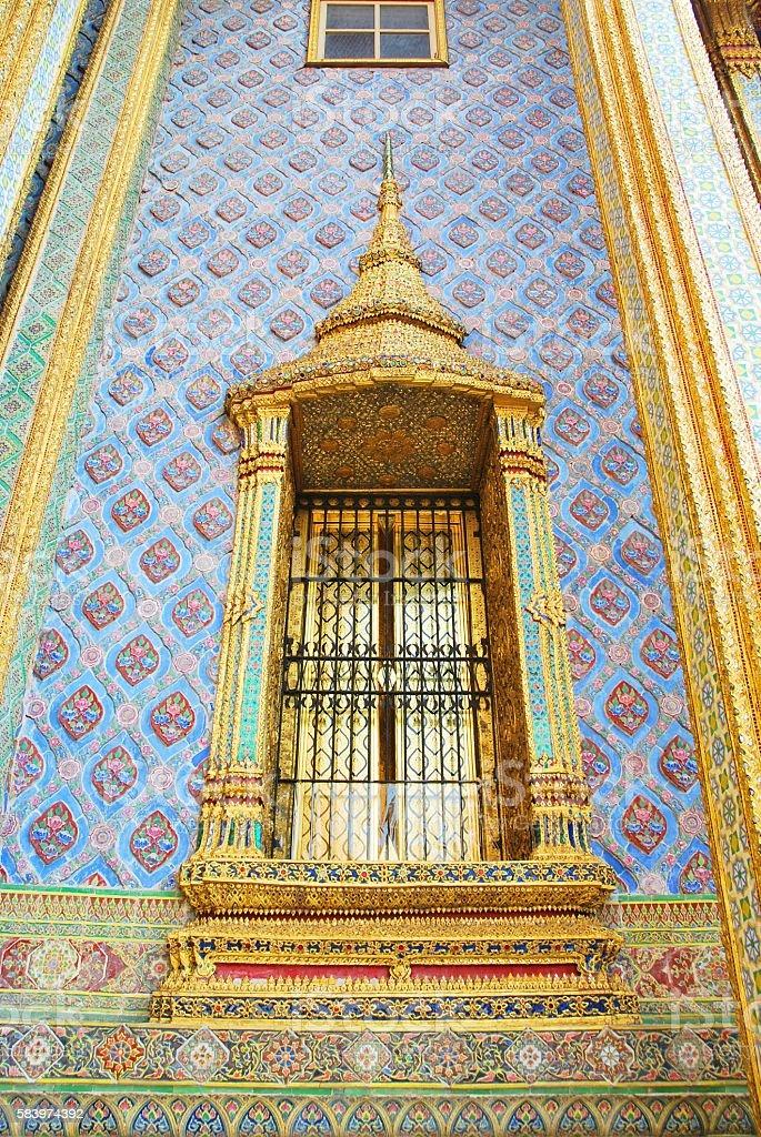 Thai window stlye stock photo