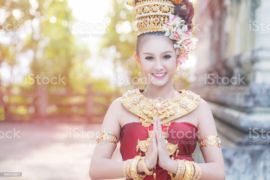 Thailändische Frau In traditioneller Kleidung von Thailand Lizenzfreies stock-foto