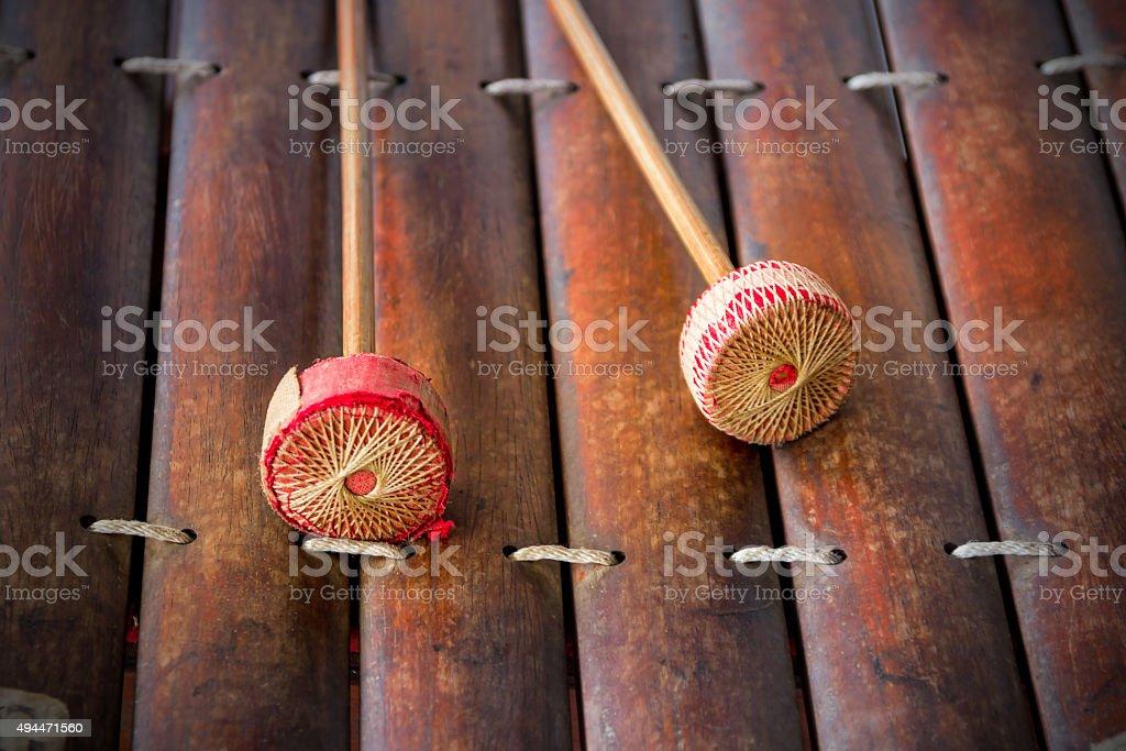 thai xylophone stock photo