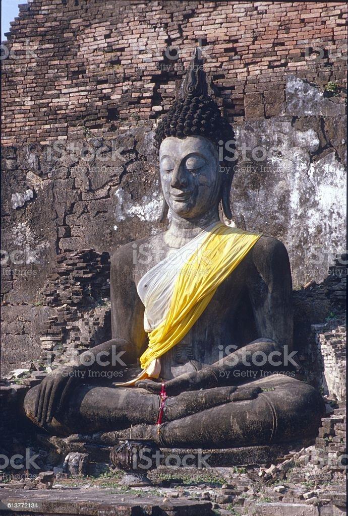 Thai-Buddha, Sukohothai stock photo