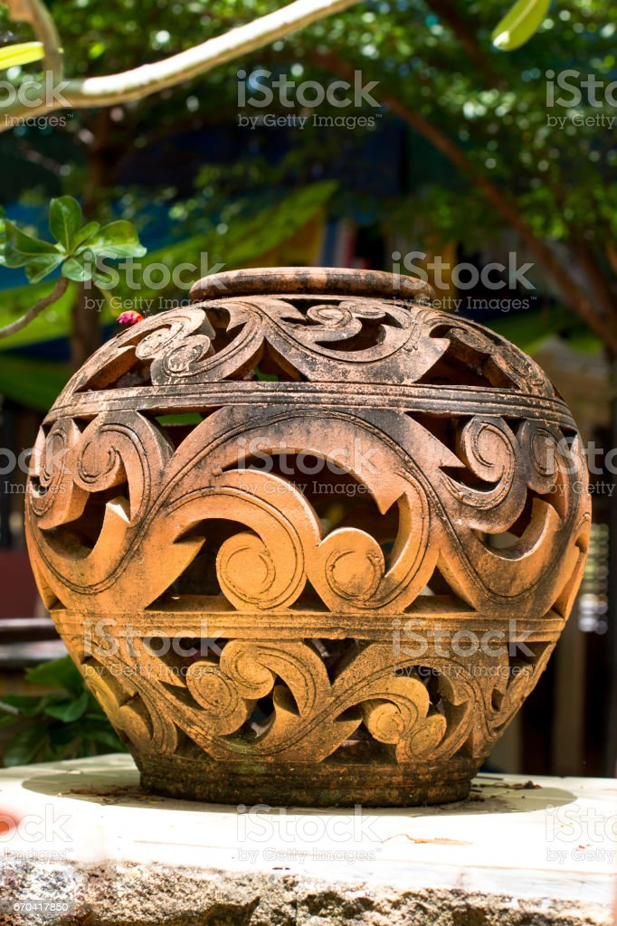 A Thai-Designed Vase stock photo