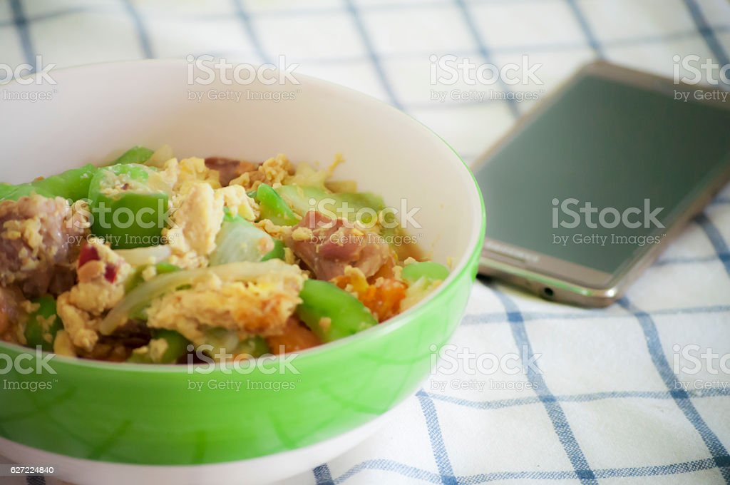 Thaifood cuisine delicious vegetable gourment stock photo