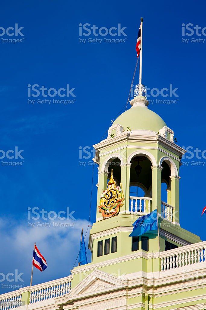 thailand asia   in  bangkok flag    sky      and  colors religi stock photo