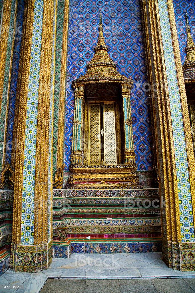 thailand asia   in  bangkok rain  temple  pavement stock photo