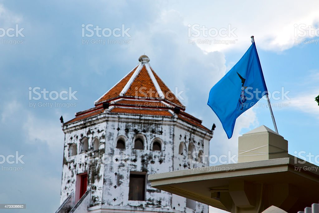 thailand asia   in  bangkok sunny  temple flag stock photo