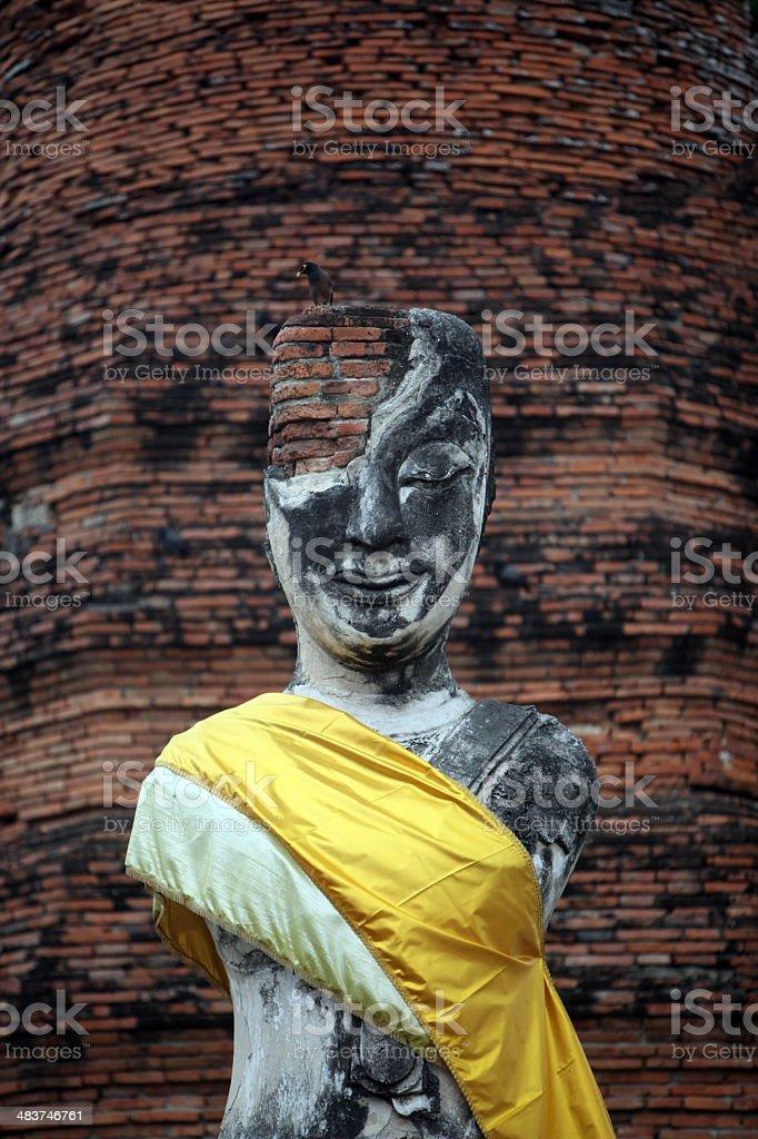 Thailand Ayutthaya Buddha royalty-free stock photo