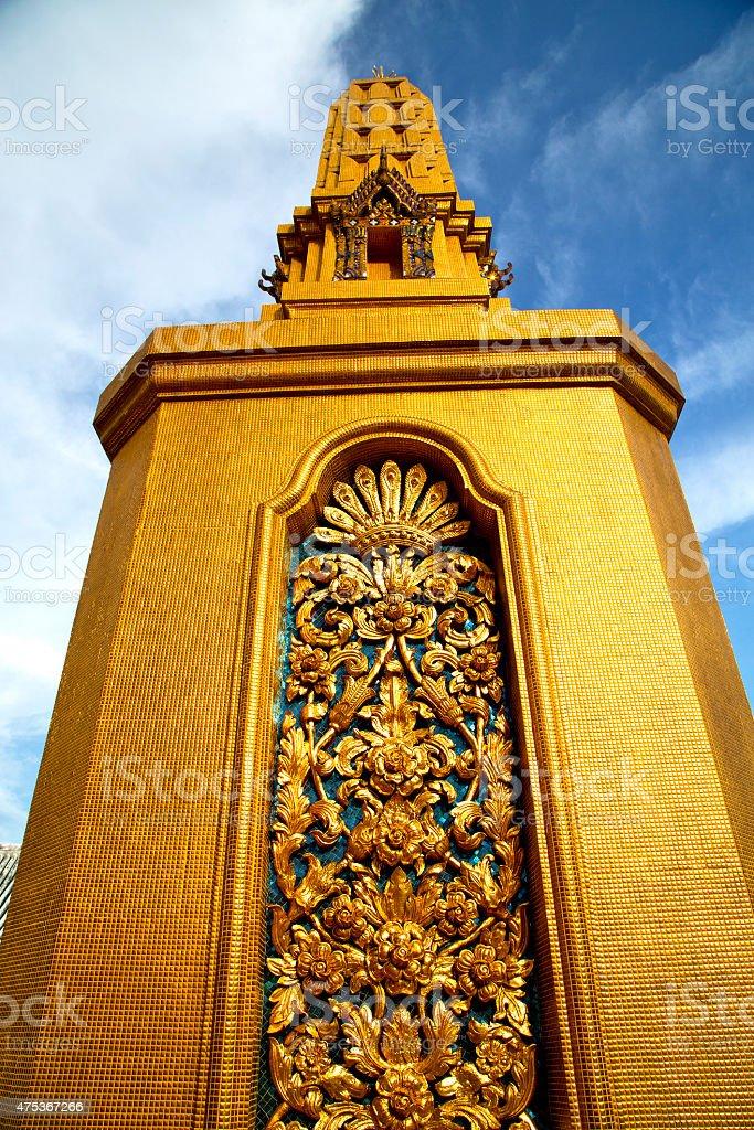 thailand bangkok abstract cross metal gold in  temple stock photo