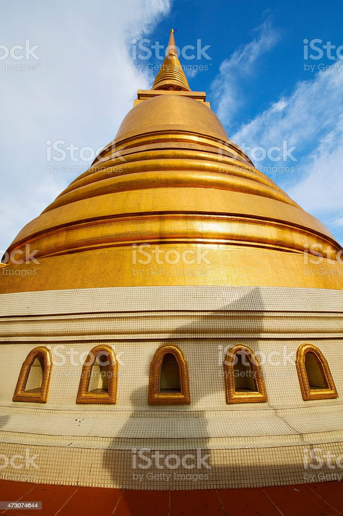 thailand bangkok abstract  in the temple  roof window stock photo