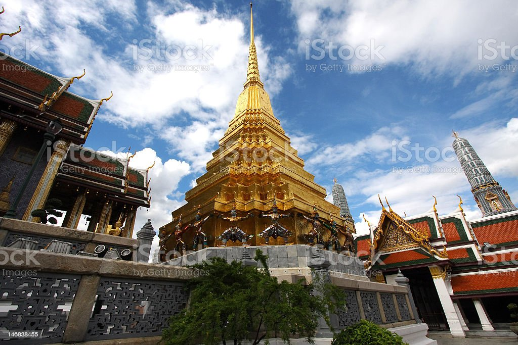 Thailand Bangkok Wat Phra Kaew royalty-free stock photo