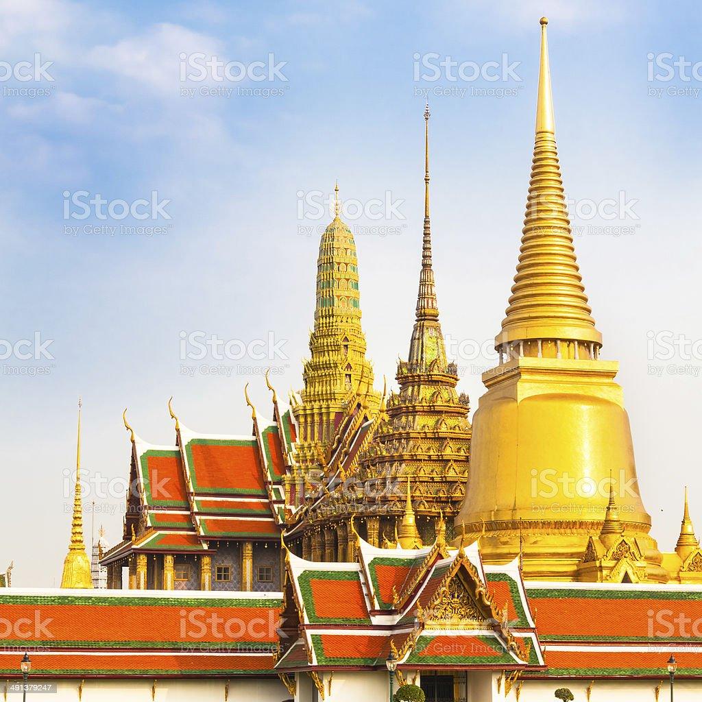 Thailand, Bangkok,  Wat Phra Kaew temple. stock photo