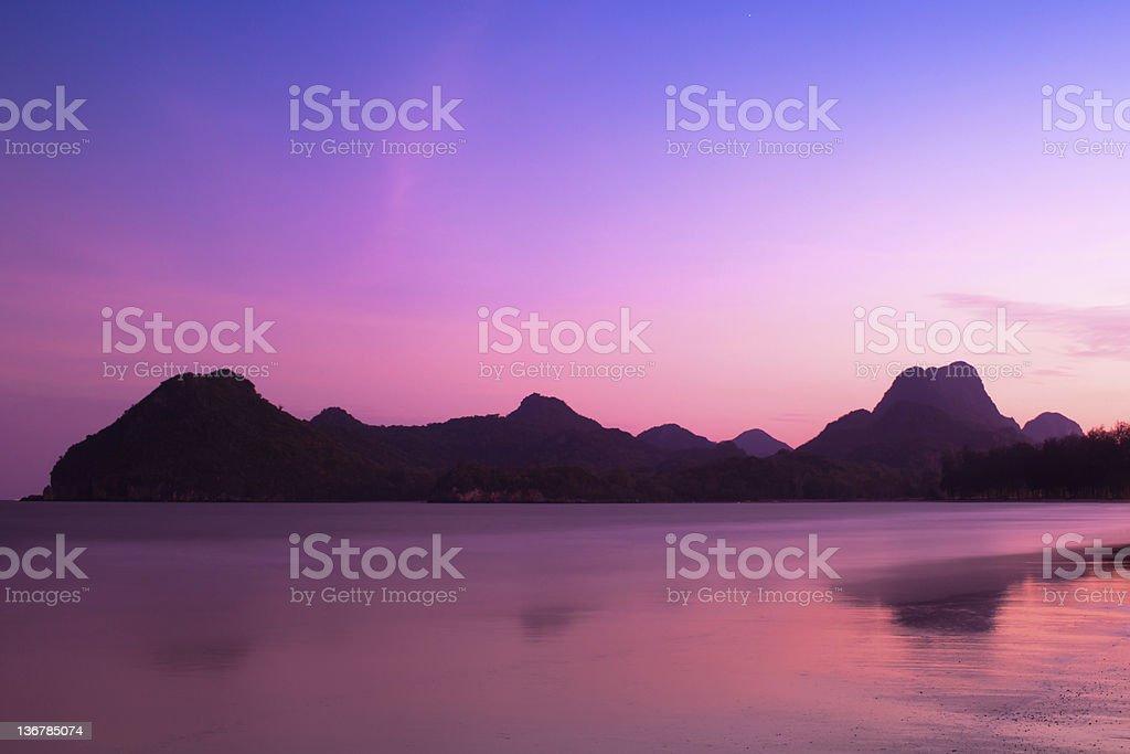 Thailand beach dusk time royalty-free stock photo