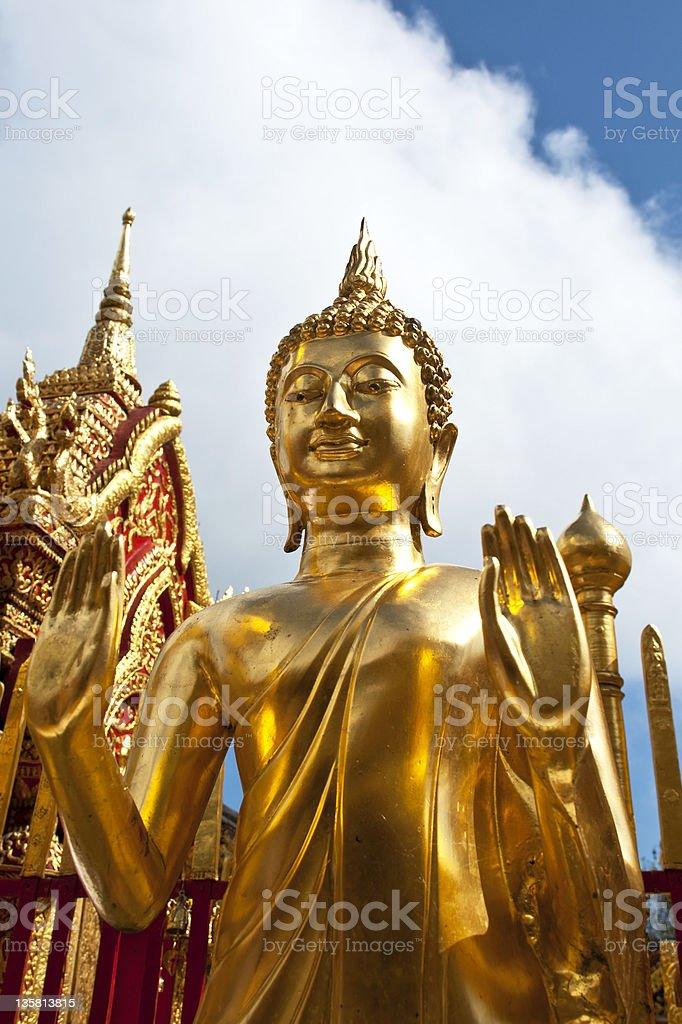 Tajlandii, Chiang Mai, Doi Suthep, posąg Buddy. zbiór zdjęć royalty-free